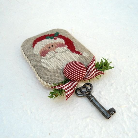 Magical Santa Key Fob Vintage Key by SnowBerryNeedleArts on Etsy, $29.50. For those who still believe but don't have a chimney!