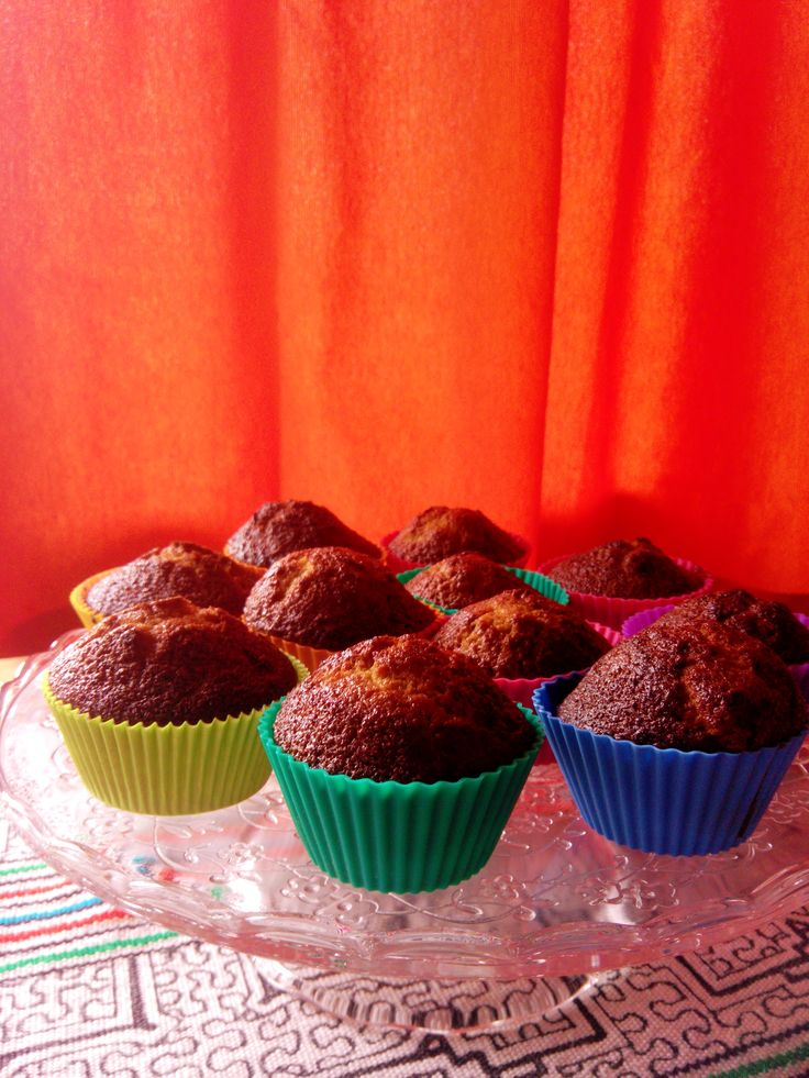 For a healthy snack: full pleasure with no bad feelings :) Gluten free muffins made with cheasnut flour and chocolate bids. 30 minutes to do them, 1 to eat them :)