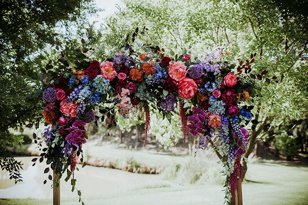 SARAH + LUKE //#wedding #flowers #floral #installation #arbour #ceremony #backdrop #rustic #bohemian