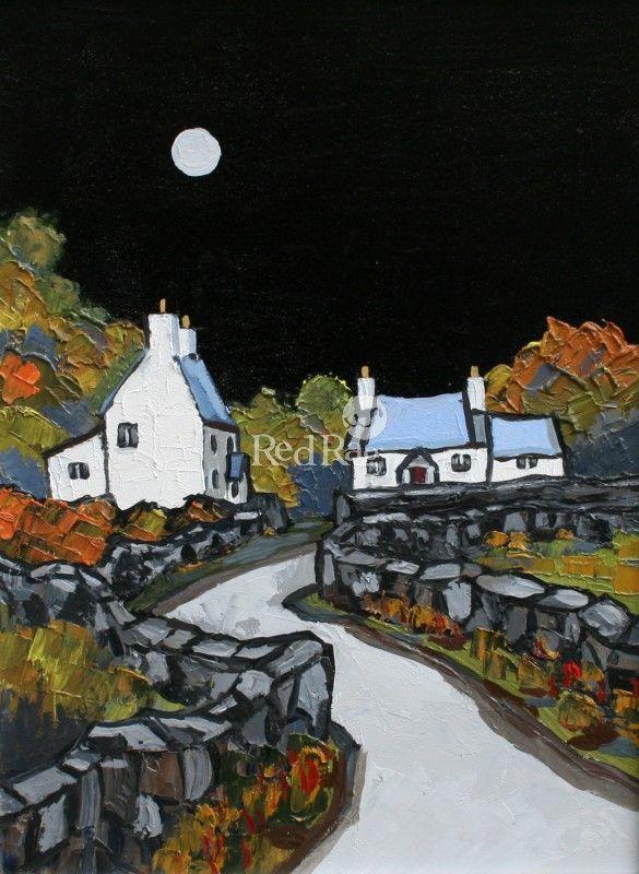 Moonlight on Llyn by Modern Contemporary Artist David BARNES