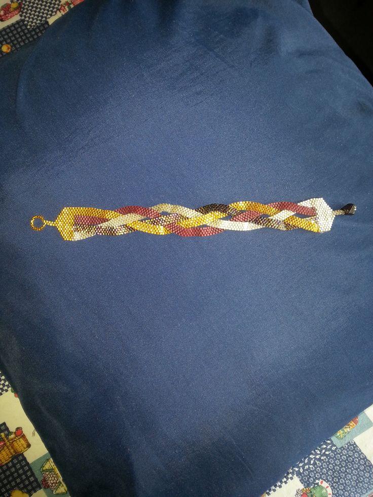 braided peyote bracelet