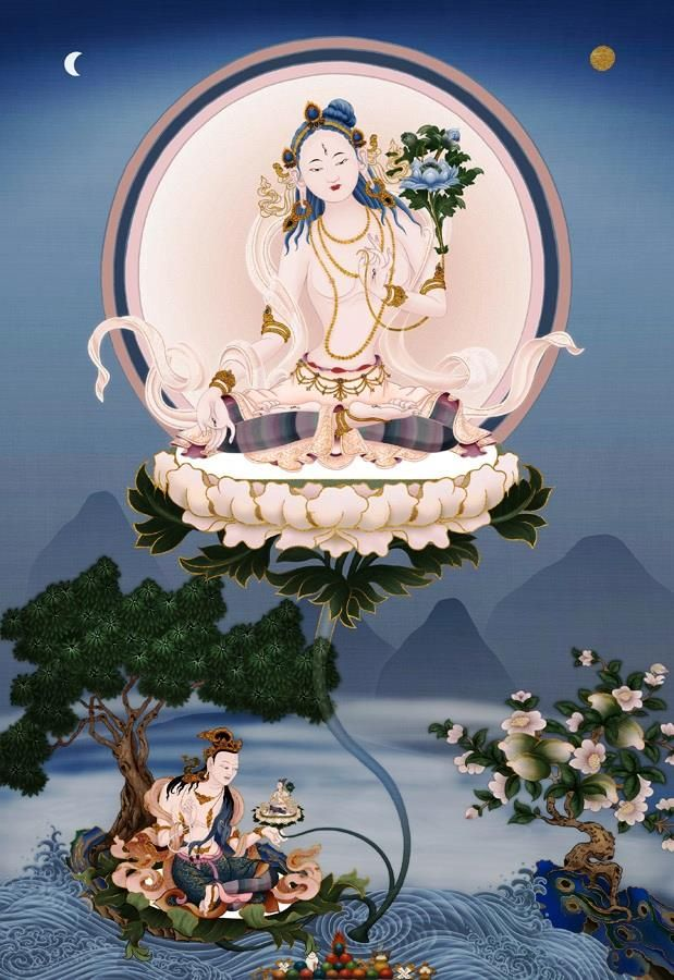 """White Tara. """"Radiate boundless love towards the entire world... above, below, and across... unhindered, without ill will, without enmity."""" – The Buddha"""