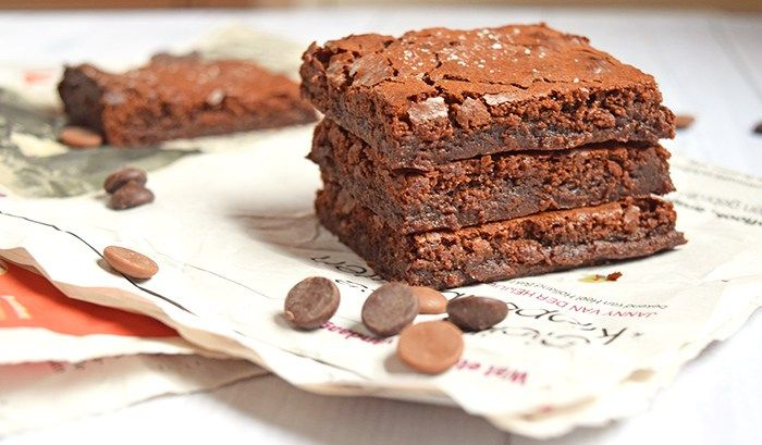 Karamel Zeezout brownies met Tony's Chocolonely (low FODMAP, glutenvrij)