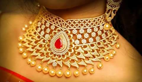 One Gram gold heavy necklace designs | FashionWorldHub.com
