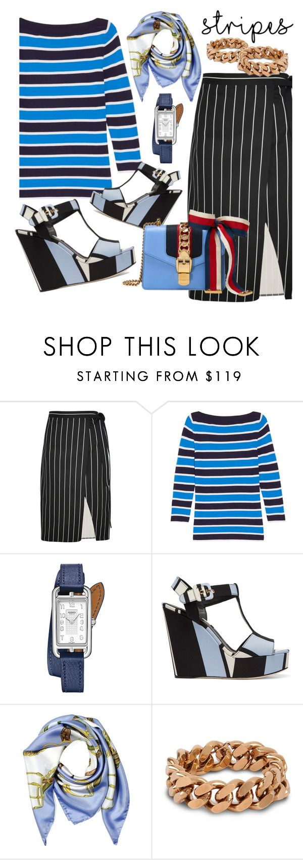 """""""The new stripes"""" by sophier on Polyvore featuring Balenciaga, Michael Kors, Hermès, Dolce&Gabbana, Aspinal of London, STELLA McCARTNEY and Gucci"""