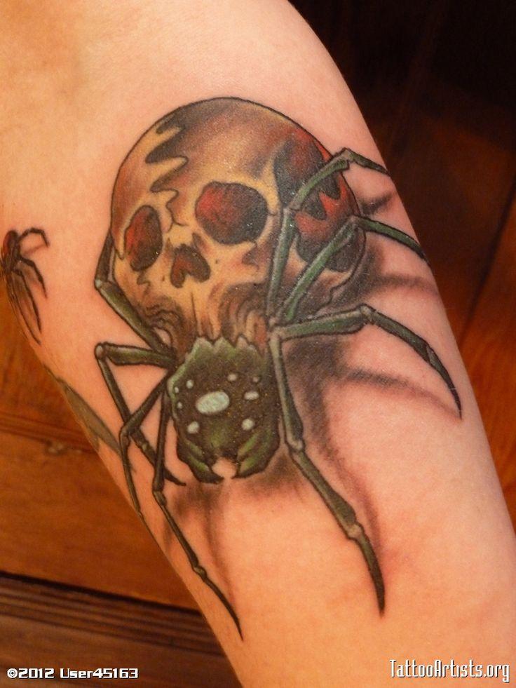 Spider skull tattoo | Tattoo | Pinterest | Tattoo images ...