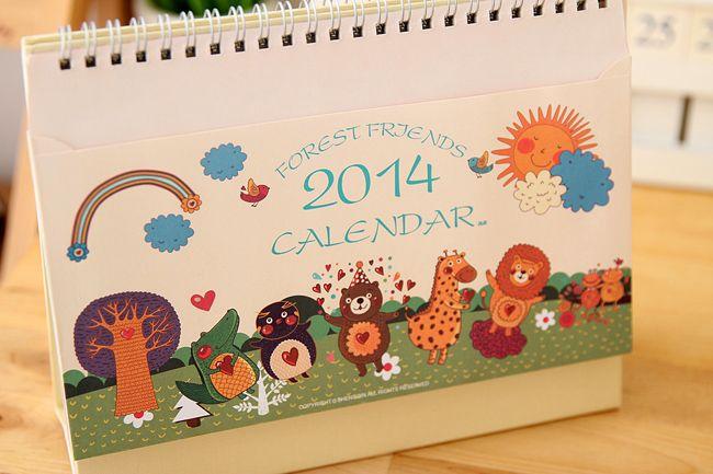 Korea stationery small animal can storage envelope calendar-inCalendar from Office & School Supplies on Aliexpress.com