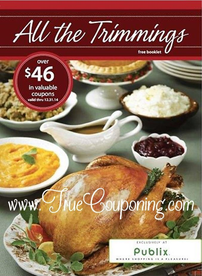 """Look for this new Coupon Booklet called """"All the Trimmings"""" in Publix Stores now! It has both Publix Store Coupons and Manufacturer's Coupons that expire 12/31/14. ~ MANUFACTURER'S COUPONS ~ $1/4 Libby's Vegetables 14.5-15.25 oz $0.75/2 Aunt Nellie's Vegetables $0.75/3 Read Salad $0.75/1 Friendship Cottage Cheese 16-24 oz or Friendship Sour Cream 16 oz $1/1… Continue Reading …"""