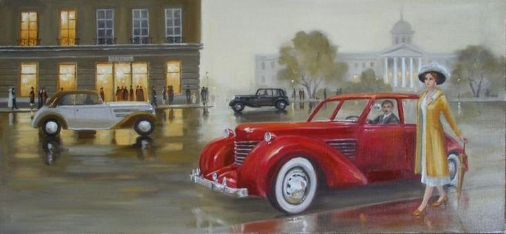 Автомобили в живописи.. Обсуждение на LiveInternet - Российский Сервис Онлайн-Дневников