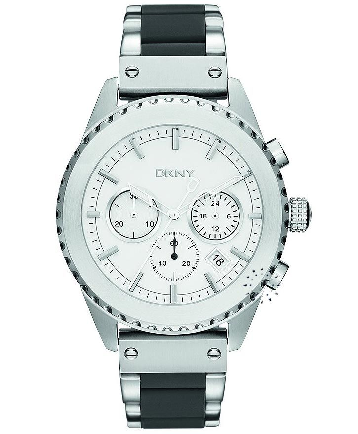 DKNY Chronograph Stainless Steel Bracelet Η τιμή μας: 211€ http://www.oroloi.gr/product_info.php?products_id=32561