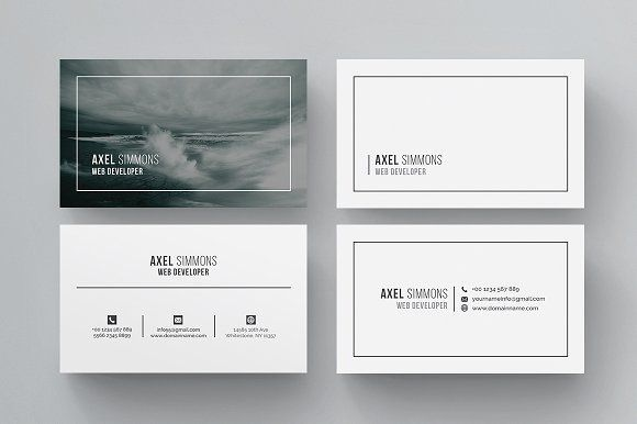 Modern & Clean Business Card by ThemeDevisers on Creative Market