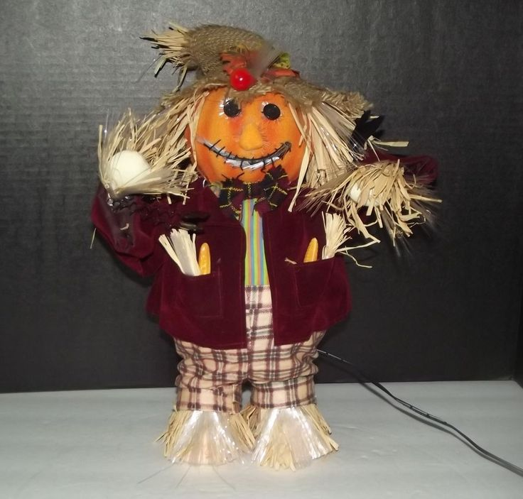 27 best images about halloween on pinterest halloween for Animated scarecrow decoration