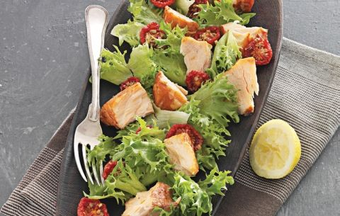 Varmrøget laks og langtidsstegte tomater   Opskrift til 5:2 Kuren