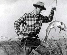 Fred Bear bow fishing