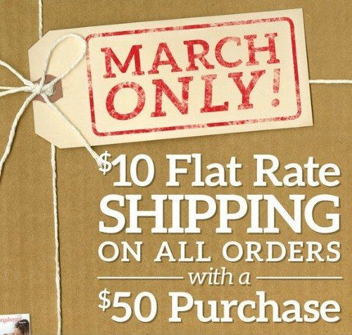 Longaberger $10 Flat Rate Shipping for March!