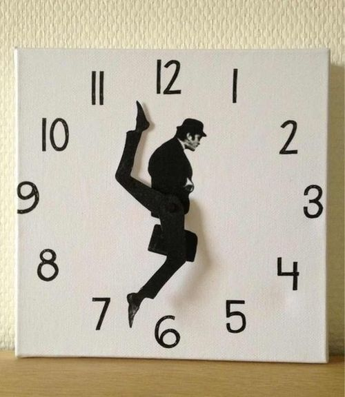 cute and quirky cool idea for a kitchen clock
