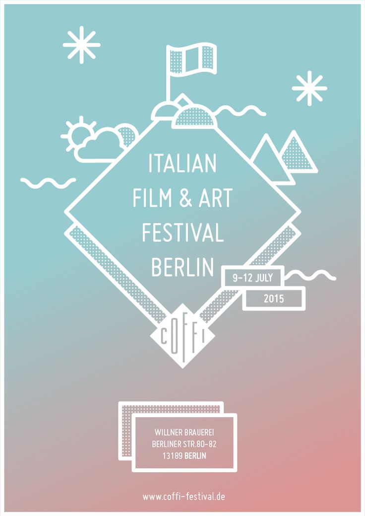 Italian Film & Art Festival Berlin // Poster Contest || Gloria Ciceri || Graphic Design, Illustration, House, Park