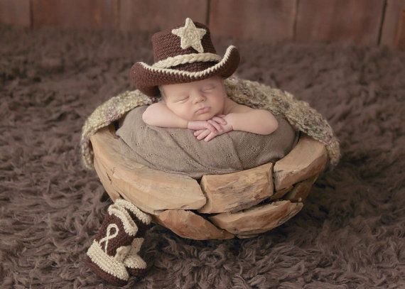 Baby cowboy hat boots and lasso plus rush fee by conniemariepfost, $55.00