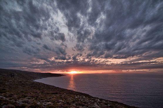 Sunrise kithira greece 2009