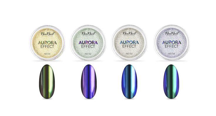 NeoNail pudry Aurora Effect (zwłaszcza nr 1)