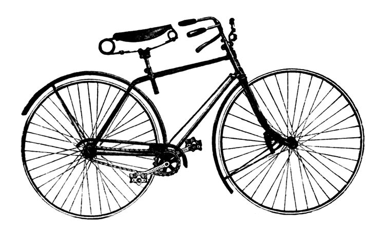 Vintage Advertising Clip Art - Antique Bicycle - The Graphics Fairy