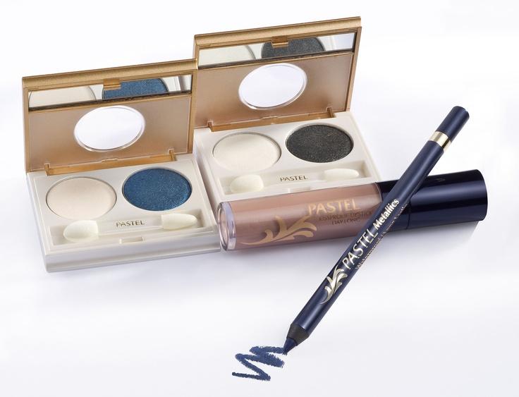 Pastel Metalik Duo Eyeshadow No: 67, 68. Pastel Metalik Göz Kalemi No: 321, 329. Pastel Kissproof Lipstick Day-long No:2