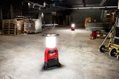 Milwaukee M18 Radius Site Light Produces 9K Lumens  It can run on batteries, charge them when plugged in, and produce 9,000 lumens - the new Milwaukee M18 Radius Site Light with One-Key has a bright future!  #milwaukeetool #nbhd #lighting #jobsitelighting #light #lumens  https://www.protoolreviews.com/tools/power/lighting/milwaukee-m18-radius-site-light-produces-9k-lumens/32018/