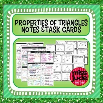 triangle properties notes & task cards