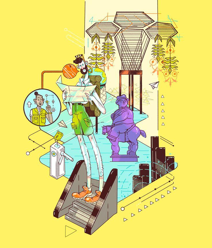 Marc the Turist  Descubriendo la magia de esta ciudad.  FOOTNOTE concept and design. Metro de medellín.  Medellín-Colombia 2016