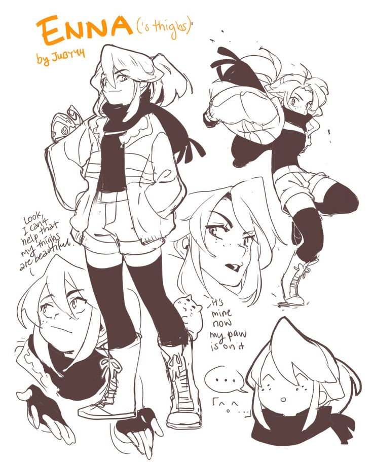 joodlez:  I wanted to draw cute thighs and so I stole Grace's character to do it Not related, but I headcanon ^.^ is the last face you'll see from Enna  omg what a beautiful thigh concentration of highs of I mean a high concentration of thighs I KNOW WHAT IM SAYING asdfdghjkl;' 6w9 <3<3<3 perfect enna faces and thighs