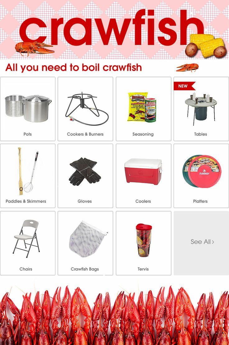 Get everything you need for your crawfish boil at Academy!