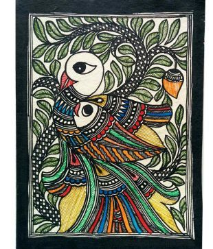 Karukraft Madhubani Greeting Card Set(4 Pieces),handmade Paper,famous Madhubani Colour And Line Painting: Buy Online at Best Price in India - Snapdeal