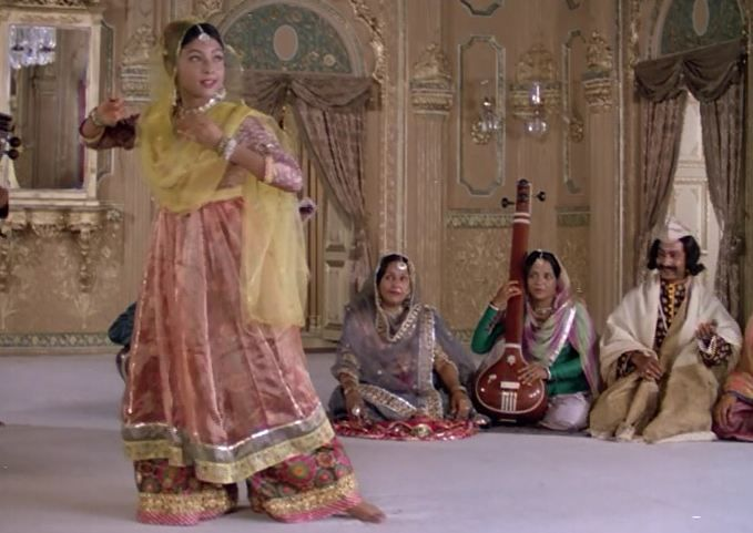 Saswati Sen, senior disciple of Pandit Birju Maharaj, in Satyajit Ray's The Chessplayers.