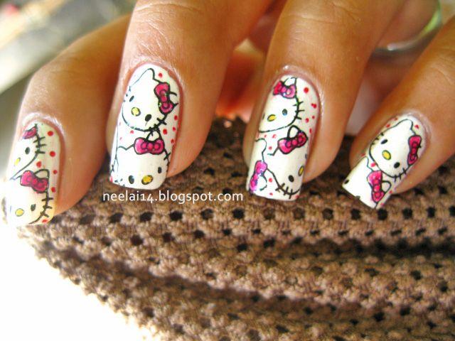 25 trending hello kitty nails ideas on pinterest kitty nails hello kitty nail designs for long nails 2015 reasabaidhean prinsesfo Choice Image