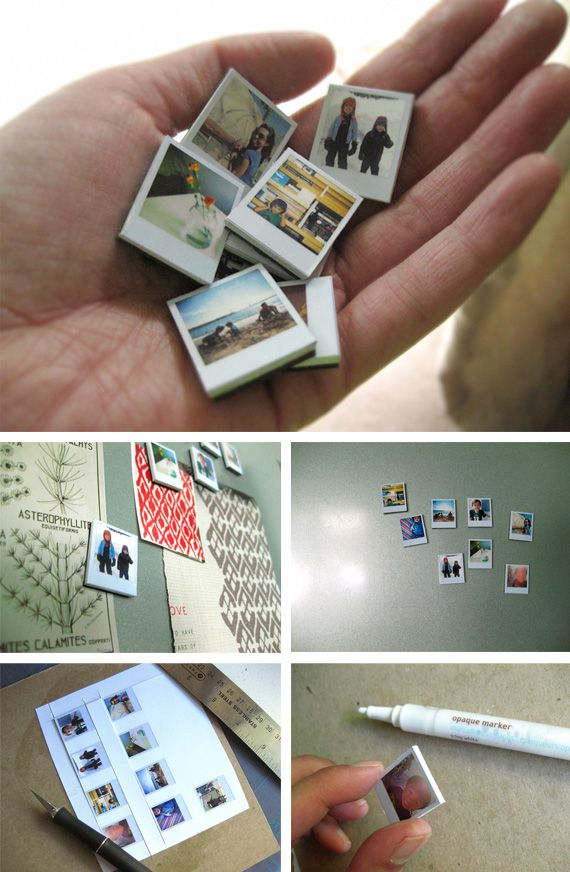 magnets mini photos style polaroïd