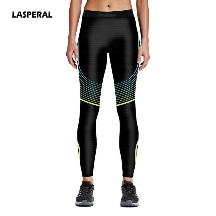 LASPERAL Hot Sale Women Print Sports Pants Yoga Pants Elastic Slim Sports Leggings Fitness Workout Lady Gym Clothes Sportwear #Affiliate