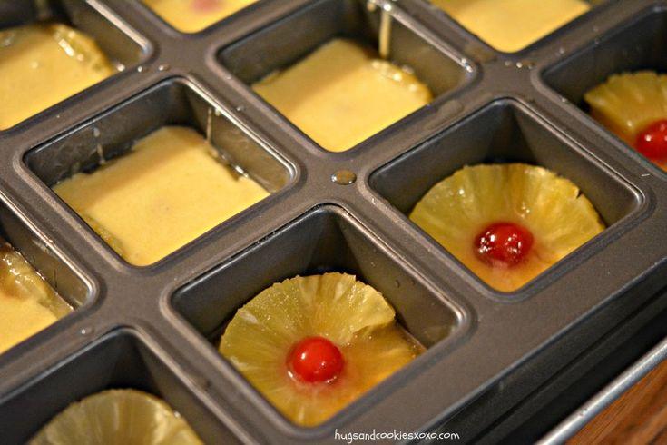 Pineapple Upside Down Mini Cakes