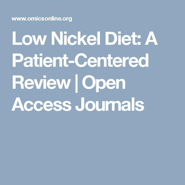 Low nickel diet