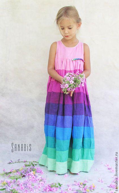 """Одежда для девочек, ручной работы. Ярмарка Мастеров - ручная работа. Купить Детское платье """"Мятно-розовое"""". Handmade. Платье, бирюзовый"""