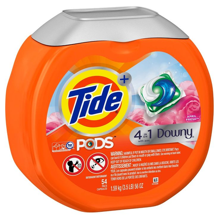 Tide Pods Downy April Fresh, 54ct