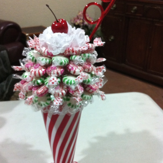 Christmas sundae you can use any type fountain glass