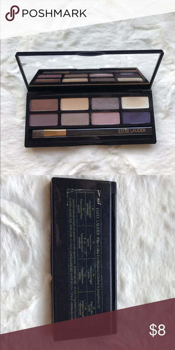Estée Lauder Pure Color Eyeshadow Pallet Authentic Estée Lauder Pure Color Eyeshadow with 8 colors.   Keywords: women's, gifts, fashion, trendy, unique, New, nwt, boutique, free gift, engagement, wedding, bling, special occasion, vacation, free Shipping, makeup, eyes, Estee Lauder Makeup Eyeshadow