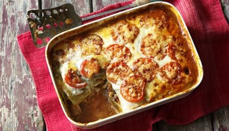 Skinny beef lasagne. http://www.bbc.co.uk/food/recipes/skinny_beef_lasagne_87277