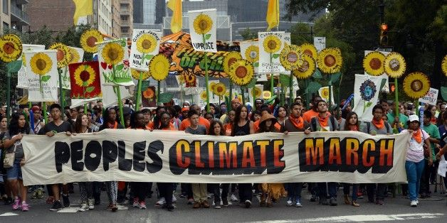 NEW YORK -- More than 400,000 people turned out for the People's Climate March in New York City on Sunday, just days before many of the world's leaders are expected to debate environmental action at the United Nations climate summit.