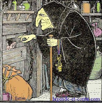 Hansel-Gretel-conte-en-ligne de Grimm ill. John Batten