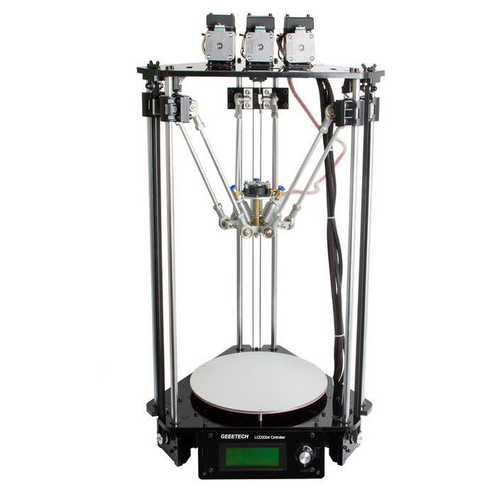 Geeetech Rostock 301 Mix Color 3-in-1-out 3D Printer - Black - Free Shipping - DealExtreme
