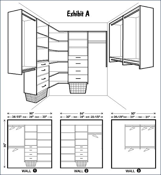 Master walk-in closet layout by EasyTrack