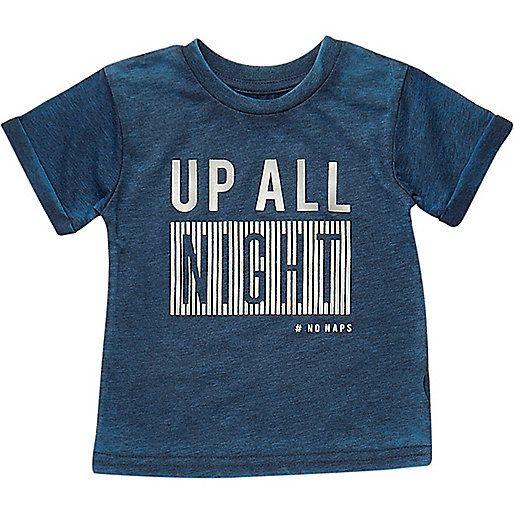 Mini boys blue night print t-shirt - tops - mini boys - boys Size 5