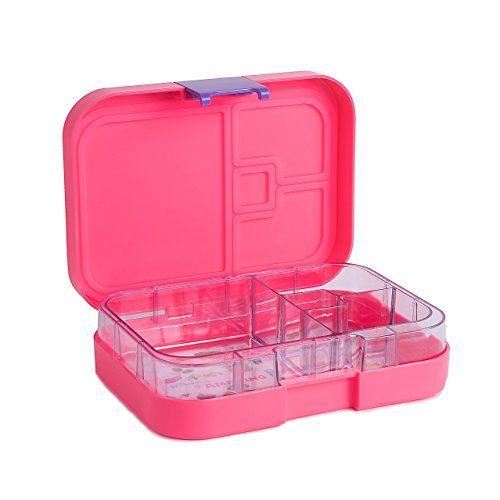 Premium Bento Lunch Box Container  Insulated Four Compartment Lunch Box for Kids Adults Men and Women  Leakproof Organized Lunch Box Containers Reusable for All Occasions  Pink * Check this awesome product by going to the link at the image.