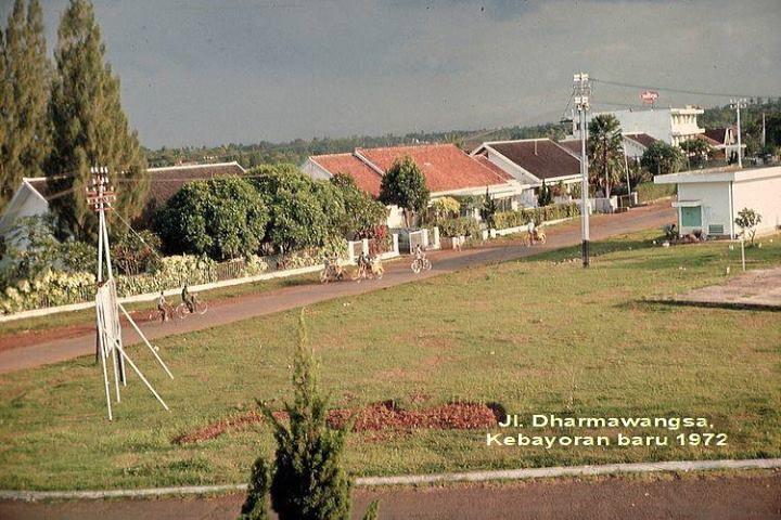 Jakarta jl Dharmawangsa, Kebayoran Baru tahun 1972